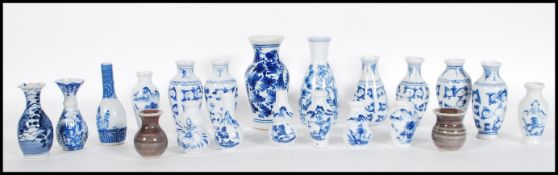 A group of 20th Century blue and white miniature o
