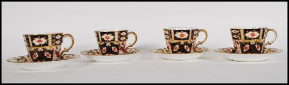 A set of four Royal Crown Derby Old Imari tea cups
