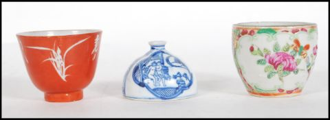 A 19th Century Chinese cup made in Hong Kong finis