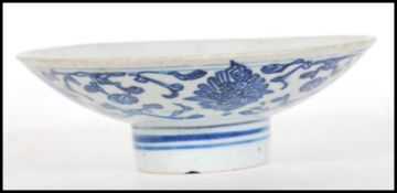 An 18th Century Chinese blue and white hand painte