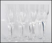 A set of eight 20th century Crystal cut glass cham