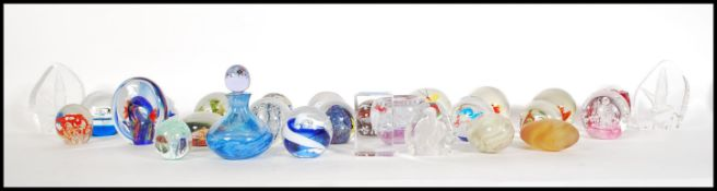 A good collection of 20th Century studio art glass