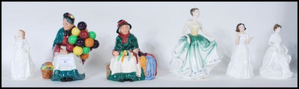 A collection of Royal Doulton ceramic figurines to include Harmony HN 4096, Joy HN 3875, Welcome