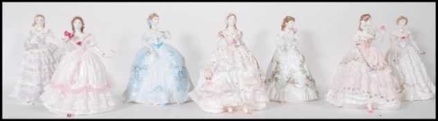 A collection of Royal Worcester ceramic figurines modelled as ladies to include The First