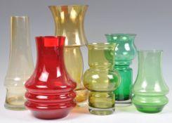 ASSORTED SCANDINAVIAN RETRO VINTAGE STUDIO ART GLASS VASES