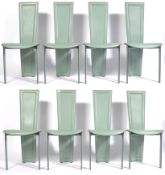 QUIA ITALIAN MINT GREEN LEATHER DINING CHAIRS