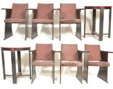 RARE 1930'S ART DECO CINEMA / THEATRE CAFE TABLE AND CHAIRS SET