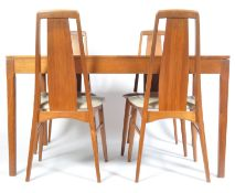 KOEFOED HORNSLET EVA DANISH DINING CHAIRS AND H. SIGH & SONS TABLE