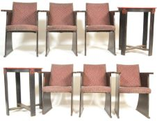RARE SET OF 1930'S ART DECO CINEMA / THEATRE CAFE TABLE & CHAIRS SET