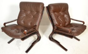 MID 20TH BENTWOOD DANISH PIRATE CHAIR BY ELSA & NORDAHL SOLHEIM