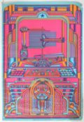 DAVE ROE PSYCHEDELIC 1960'S POP ART COLOUR LITHOGRAPH POSTER