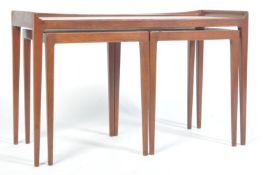 JASON MOBLER 1960'S DANISH TEAK WOOD NESTING TABLE
