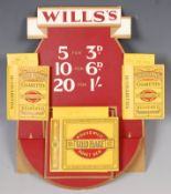 WILLS'S GOLD FLAKE CIGARETTES UNUSED SHOP ADVERTISING DISPLAY