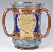 DOULTON THREE HANDLED LOVING CUP - LAMBETH TUG OF WAR 1904