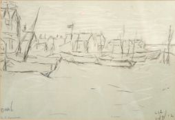AFTER LAURENCE STEPHEN LOWRY RA (BRITISH 1887-1976) DEAL SIGNED PRINT