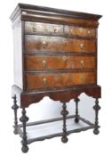 17TH CENTURY QUEEN ANNE WALNUT CHEST OF DRAWERS ON STAND