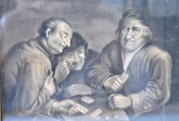 AFTER DAVID TENIERS OR VAN OSTADE MONOTONE PAINTIN
