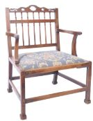 18TH CENTURY COUNTRY HOUSE MAHOGANY LIBRARY CHAIR / ARMCHAIR