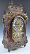 STUNNING 19TH CENTURY FRENCH BOULLE WORK MANTEL CLOCK