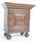17TH / 18TH CENTURY OAK SPICE OR APOTHECARY CABINET