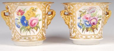 PAIR OF EARLY 19TH CENTURY DERBY FLOWER BOUGHS