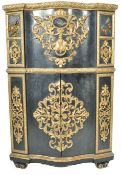 19TH CENTURY FLORENTINE PIETRA DURA INLAID CORNER CABINET