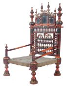 18TH 19TH CENTURY TRADITIONAL INDIAN / PUNJABI PIDHA LOW CHAIR