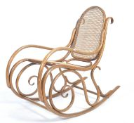 LATE 19TH CENTURY MICHAEL THONET BENTWOOD CANE ROCKING CHAIR