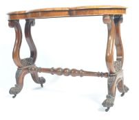 19TH CENTURY ROSEWOOD SERPENTINE OCCASIONAL TABLE.