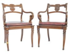 PAIR OF EARLY 19TH CENTURY ANGLO-INDIAN ROSEWOOD ARMCHAIRS
