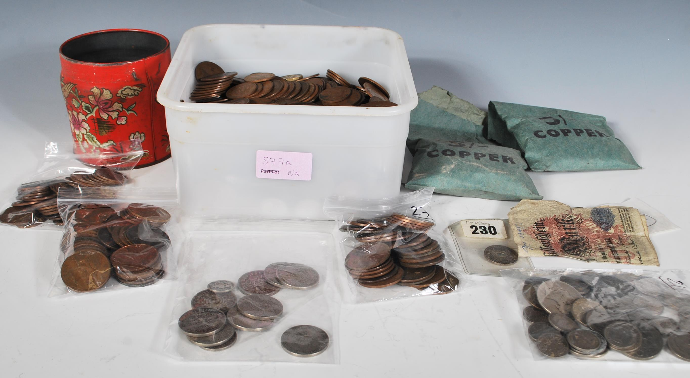 A collection of coins dating from the 19th Century onwards to include large...