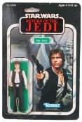RARE VINTAGE STAR WARS MOC CARDED ACTION FIGURE - HAN SOLO