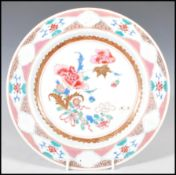 An 18th Century Chinese famille rose porcelain pla