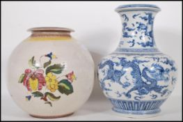 A 20th Century Chinese blue and white large balust
