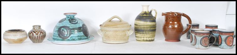A collection of mixed 20th Century studio pottery