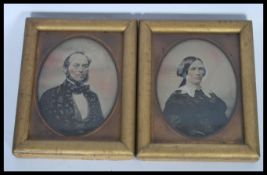 A pair of 19th Century Victorian wet plate photogr