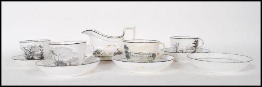 An early 19th century New Hall porcelain part tea