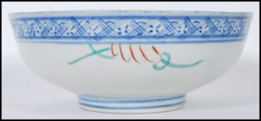 An early 20th Century Chinese footed centrepiece b
