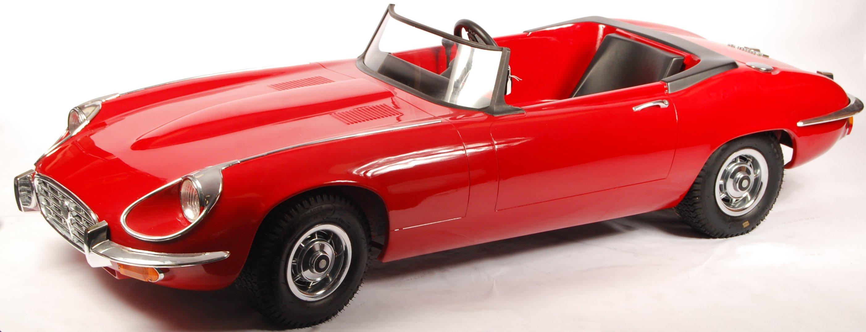 Lot 30 - RARE HARRODS MADE LIMITED EDITION JUNIOR E-TYPE JAGUAR CHILD'S CAR