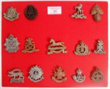 COLLECTION OF ORIGINAL WWII PLASTIC ECONOMY REGIMENT BADGES