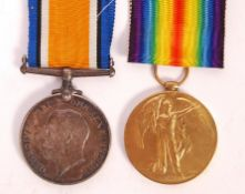 WWI FIRST WORLD WAR MEDAL PAIR AWARDED TO A PRIVATE IN THE RAMC