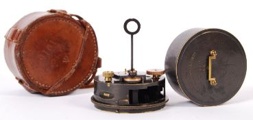 RARE WWI FIRST WORLD WAR HUGHES & SONS NAMED POCKET SEXTANT