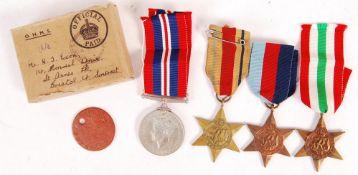 WWII SECOND WORLD WAR RAMC BRISTOL MEDAL GROUP