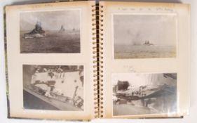 WWII PERSONAL PHOTOGRAPH ALBUM - HMS INDOMITABLE ETC