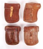 COLLECTION OF WWI & WWII LEATHER MACHINE GUN AMMO POUCHES
