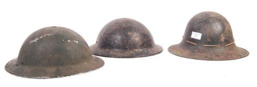 ASSORTED WWII SECOND WORLD WAR BRITISH MILITARY UNIFORM HELMETS