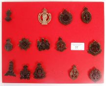 COLLECTION OF ORIGINAL WWII SECOND WORLD WAR ECONOMY CAP BADGES