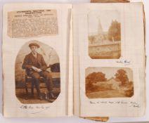 RARE WWI & WWII PERSONAL SCRAP BOOK / PHOTOGRAPH ALBUM