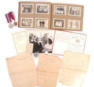 INCREDIBLE WWII PRISONER OF WAR PHOTOGRAPH ALBUM & MEDALS