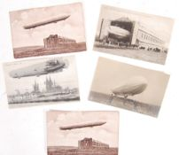 COLLECTION OF EARLY 20TH CENTURY ZEPPELIN RELATED POSTCARDS